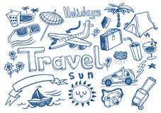 doodles ταξίδι Στοκ φωτογραφία με δικαίωμα ελεύθερης χρήσης