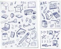 πίσω σχολείο doodles Στοκ φωτογραφία με δικαίωμα ελεύθερης χρήσης