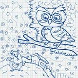Doodles бумаги тетради Стоковая Фотография RF