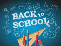 Назад к плакату школы с doodles Стоковые Фото