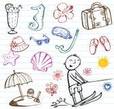 Καλοκαίρι doodles, διανυσματικές απεικονίσεις Στοκ Φωτογραφία