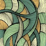 Doodles abstract background. Green and yellow lines Stock Images