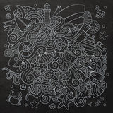 Doodles abstract decorative marine nautical vector Royalty Free Stock Photos