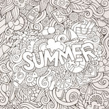 Doodles abstract decorative summer background Royalty Free Stock Image