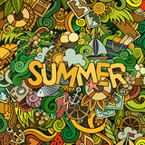 Doodles abstract decorative summer background Royalty Free Stock Photo