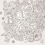 Doodles abstract decorative summer sketch Stock Photography
