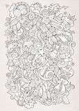 Doodles abstract decorative summer sketch Stock Image