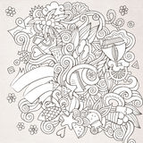 Doodles abstract decorative summer sketch Royalty Free Stock Photography