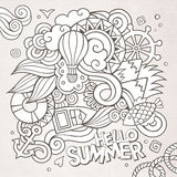 Doodles abstract decorative summer sketch Stock Photo