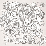 Doodles abstract decorative summer sketch Royalty Free Stock Images