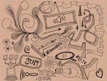 Doodles aleatórios Fotos de Stock Royalty Free