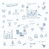 Doodles business icons Royalty Free Stock Photography
