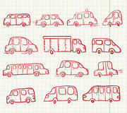 Doodles cars Royalty Free Stock Images