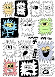Doodles cartoon character Royalty Free Stock Images