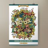 Doodles cartoon colorful School hand drawn Royalty Free Stock Photography