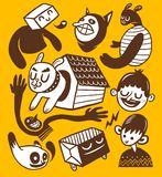 Doodles collection. Hand drawn funny doodles collection Royalty Free Stock Images