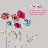 Doodles, colorful flowers Royalty Free Stock Photo
