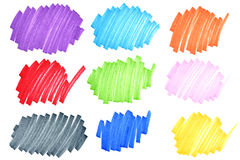 Doodles coloridos da tinta Foto de Stock