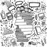 Doodles on the concept of education Stock Images