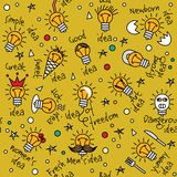 Doodles creative ideas color seamless pattern. Stock Photos