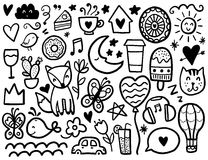Doodles cute elements. Royalty Free Stock Photography