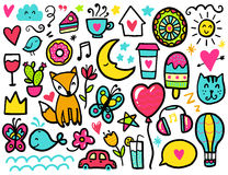 Doodles cute elements Royalty Free Stock Photography