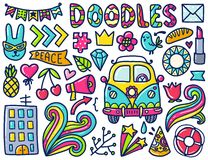 Doodles cute elements Royalty Free Stock Photos