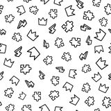 Doodles cute seamless pattern Stock Photos