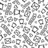 Doodles cute seamless pattern Stock Photography