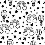 Doodles cute seamless pattern Royalty Free Stock Photography