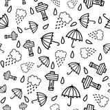 Doodles cute seamless pattern Stock Photo