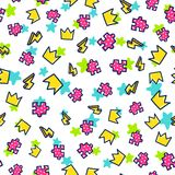 Doodles cute seamless pattern Royalty Free Stock Images