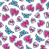 Doodles cute seamless pattern. Stock Photo