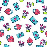 Doodles cute seamless pattern. Royalty Free Stock Image