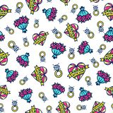 Doodles cute seamless pattern. Stock Image