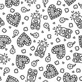 Doodles cute seamless pattern. Royalty Free Stock Photo