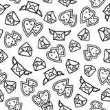 Doodles cute seamless pattern. Stock Photos