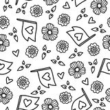Doodles cute seamless pattern. Stock Photography