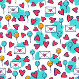 Doodles cute seamless pattern Royalty Free Stock Photos