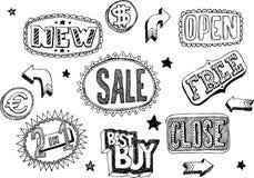 Doodles da loja Foto de Stock