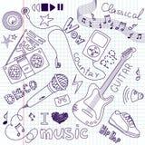 Doodles da música Fotos de Stock
