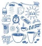 Doodles da manhã Foto de Stock
