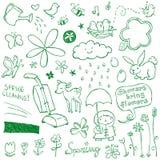 Doodles da mola Foto de Stock Royalty Free