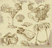 Doodles da sala de estar do verão Imagens de Stock Royalty Free
