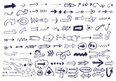 Doodles da seta Imagens de Stock Royalty Free