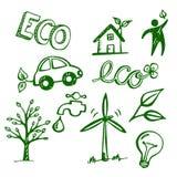 Doodles de Eco Imagem de Stock