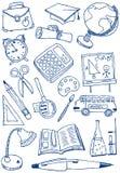 Doodles de la educación Fotos de archivo