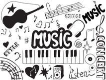 Doodles de la música Imagen de archivo libre de regalías