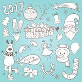 Doodles de la Navidad libre illustration