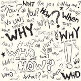 Doodles de la pregunta Imagen de archivo libre de regalías